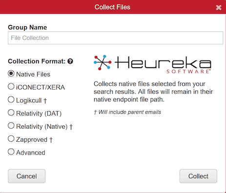 Heureka allows for easy sharing of data for e-discovery platforms and analytics tools.