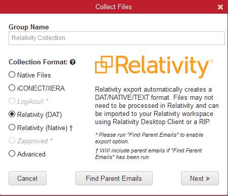 Relativity Export